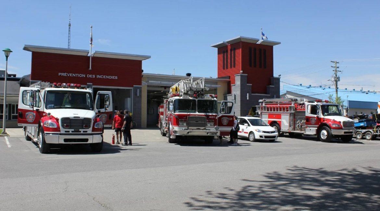 Caserne de pompiers à Saint-Charles-Borromée